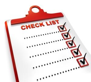 Check List curricular